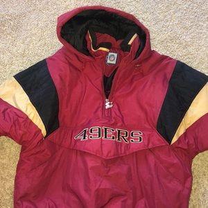 San Francisco 49ers extra large bomber jackethoodi